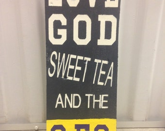 Love God, Sweet Tea and the SEC