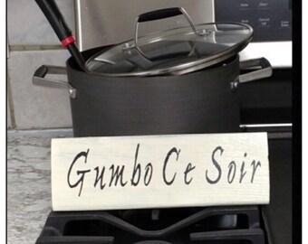 Gumbo Ce Soir Sign