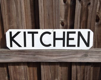 KITCHEN Hand Painted Home Decor Sign
