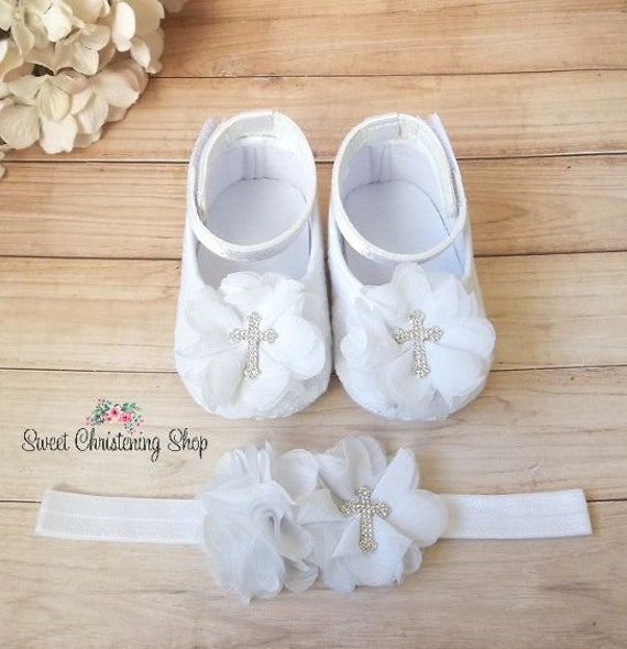 Cross White Eyelet Lace Shoes Baby