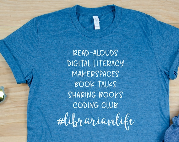 Custom Librarian Life List Short Sleeve T-shirt | Gift for Librarian