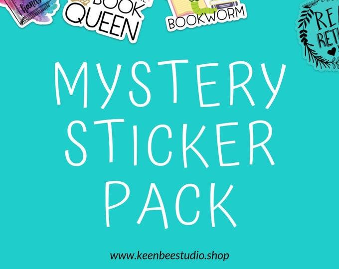 Mystery Sticker Pack Librarian & Reading Theme 3 inch Die Cut Vinyl Stickers | Laptop Sticker | Car Vinyl | Librarian Sticker
