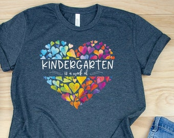 A Work of Heart  for Any Grade Level Teacher Tshirt | Candy | Cute Teacher shirt for Valentine's Day | Watercolor Hearts