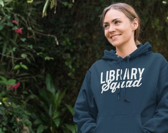 Library Squad Fleece Pullover Hoodie | Super-Soft and Vintage-feel | Librarian Hoodie | Gift for Librarian