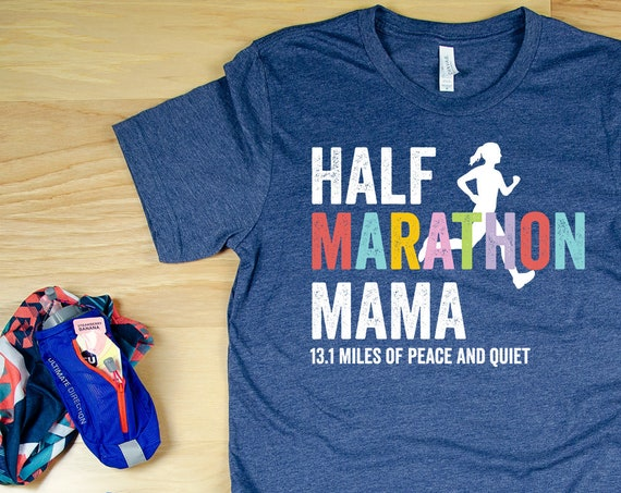 Half Marathon or Marathon Mama 13.1 Miles of Peace and Quiet Short Sleeve Unisex T-shirt | Trail Running | Running Gift | Marathon 26.2