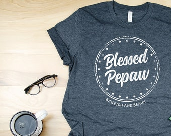 Personalized Blessed Grandpa or Papa Tshirt | Gift for Grandpa | With Grandchildren Names | Gift for Grandfather