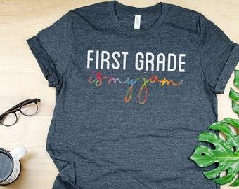K-6 Teaching is my Jam in Color | Teacher Tshirt