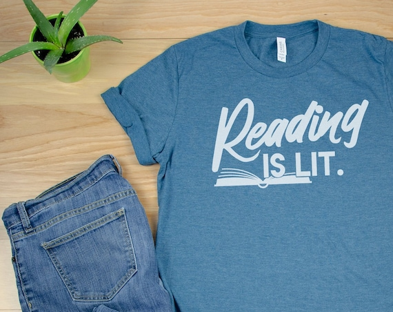 Reading is Lit Librarian Unisex Short Sleeve T-shirt | Vintage-Feel & Super-Soft| Reading | Library Science | Reading Shirt | Literacy