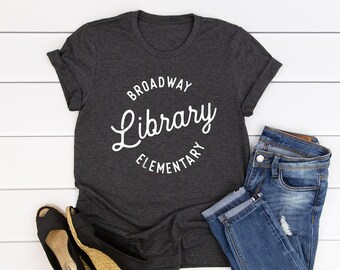 Custom Vintage Circle - Librarian T-shirt | Super-Soft, Vintage-Feel Tshirt | Reading | Libraries | Gift for Librarians | Library Science