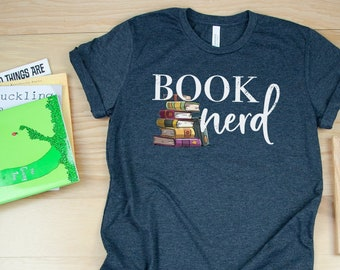 Book Nerd - Librarian T-shirt | Super-Soft, Vintage-Feel Tshirt | Reading | Libraries | Gift for Librarians | Library Science