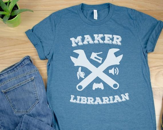 Maker Librarian Short Sleeve Tshirt | Makerspace