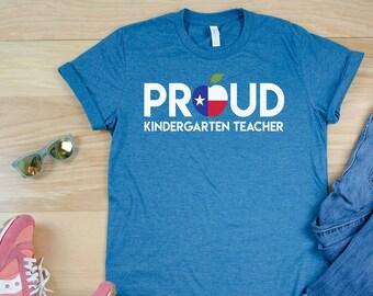 Proud Any State, Any Grade Teacher Tshirt   Kindergarten, First Grade, Second Grade T-shirt