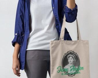 Jane Austen is my Homegirl Canvas Tote Bag | Book Bag | Empower Women | Literary Hero Bag Reading