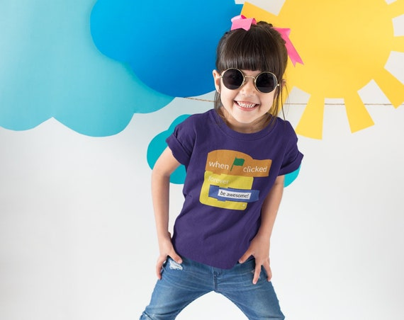Scratch Inspired Princess T-shirt | Girl Power | Empowered Girls | Girls Tee | Coding is for Girls