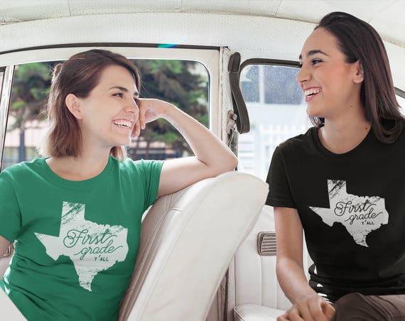 K-6 Vintage Texas Grade Level Y'all Tshirt for Teachers