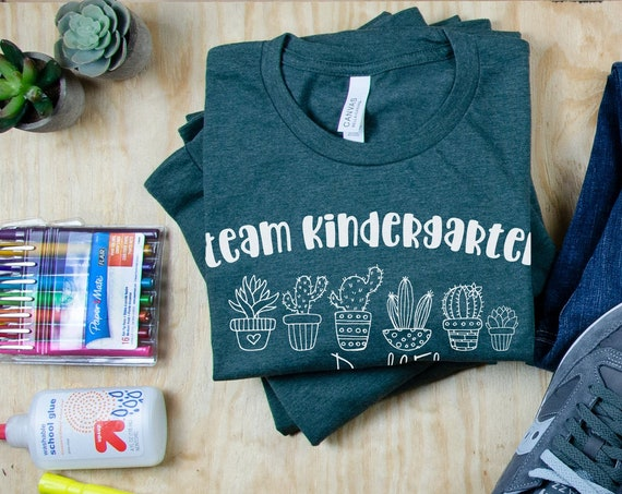 "Cute Cactus Line ""Any Grade Level"" Teacher Tshirt 