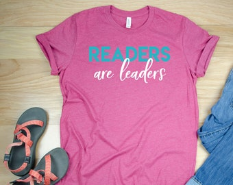 Readers are Leaders Librarian Reading T-shirt | Bookish Tshirt | Gift for Book Lover
