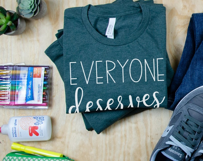 Everyone Deserves a Voice SLP T-shirt | Grade Level Shirt | Super-Soft | Speech Language Pathologist