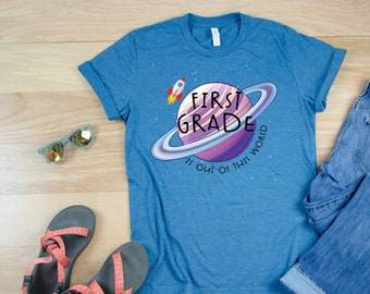 """Space Theme """"Out of this World"""" Any Grade Level Teacher Tshirt 