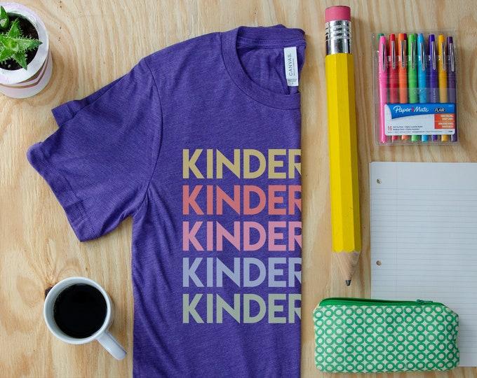 Repeating Grade Level Unisex Teacher Triblend T-shirt | First Grade Kindergarten Level Shirt | Elementary Teacher | Any Grade