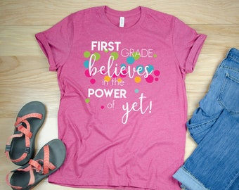 Power of Yet for Any Grade Level Teacher Short Sleeve Tshirt