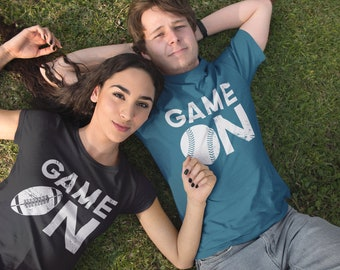 "Your Sport Shirt ""Game On"" Short Sleeve | Basketball, Baseball Mom, Volleyball, Soccer Mom | Game Day Shirt | Team Pride"