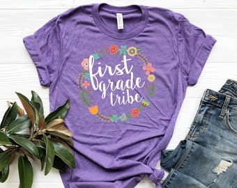 Tribal Teacher T-shirt | First, Second, Third, and Fourth Grade Level Short Sleeve T-shirt for Elementary Teachers