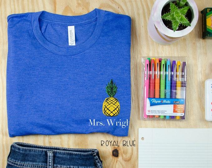 Teacher Shirt Pineapple Grade Level is Sweet | First Grade Teacher, Kindergarten Teacher | Back to School Shirt