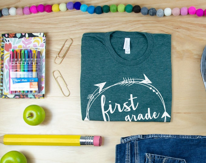 Teacher Shirt Tribal Style with Arrows | First Grade Teacher Shirt, Second Grade Teacher | Back to School Shirt | Team Shirt & Boho Style