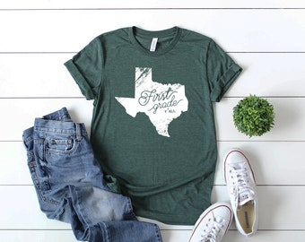 K-6 Teacher Triblend Texas Y'all Tshirt |  Kindergarten, First, Second, Third, Fourth, Fifth | Grade Level Tshirt | Team Teacher Shirt