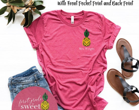 Cute Pineapple Grade Level is Sweet Elementary Teacher T-shirt |  Available for Kindergarten, First Grade,  Second Grade, and Any Grade