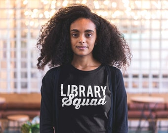 Library Squad Librarian Unisex Short Sleeve Tshirt | Super-soft | Library Science | Media Specialist | Gift for Librarian | School Librarian