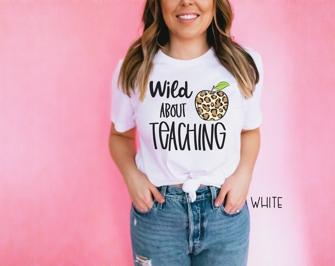 Wild About Leopard Print Apple Teaching| Vintage-Feel & Super-Soft | Teaching Tshirt