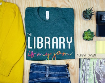 The Library is my Jam Librarian Unisex Short Sleeve T-shirt