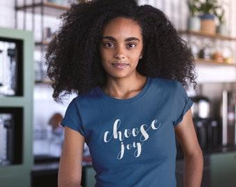 Choose Joy Vintage Super-Soft Tshirt   Christian   Positive Vibes   Christmas