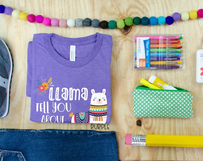 LLama Tell You about A Book I Love Librarian & Reading T-shirt
