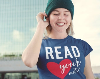 READ your Heart Out Reading Short Sleeve T-shirt | Gift for Librarian