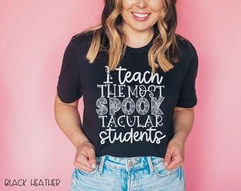 I Teach Spook-Tacular Students Teacher Halloween T-shirt | Super-Soft, Vintage-Feel Tshirt | Cute Halloween Teacher Shirt
