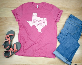 K-6 Texas Teacher Grade Level Y'all Tshirt | Super-Soft  | Elementary | Available for Kindergarten, First and Beyond