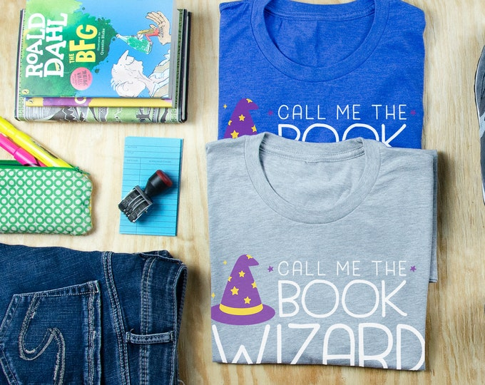 Call Me the Book Wizard - Librarian T-shirt | Super-Soft, Vintage-Feel Tshirt | Reading | Libraries | Gift for Librarians | Library Science