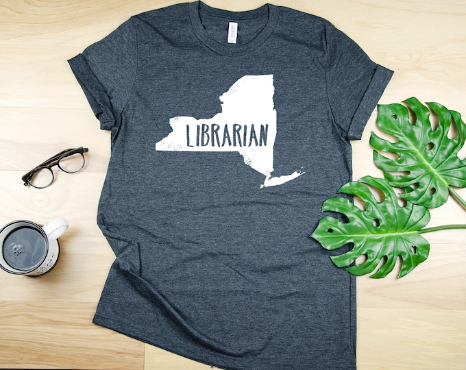 Any State Librarian Short Sleeve Tshirt | Gift for Librarian