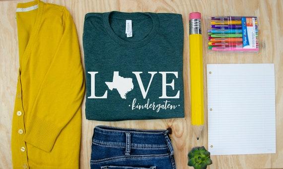Teacher Shirt | Love State Customizable Unisex Teacher T-shirt | First Grade, Second Grade Level Shirt | Super-Soft  | Personalize