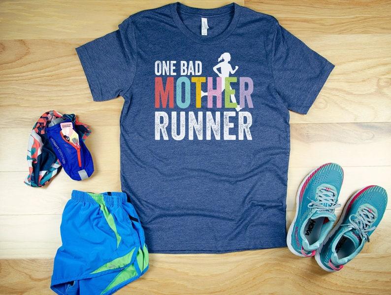 0f6237630e62 One Bad Mother Runner Short Sleeve Unisex T-shirt Trail