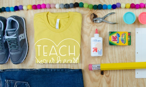 Pastels Teach Your Heart Out Teacher Tribe Grade Level Tshirt | First Grade, Second Grade Teacher shirt | Teaching Tee