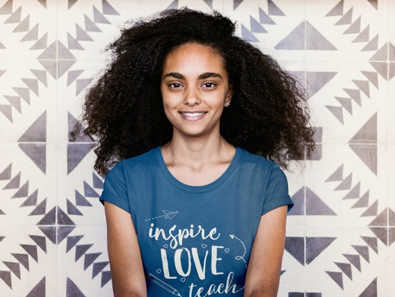 """Librarian """"Inspire Love Teach"""" Short Sleeve Tshirt 