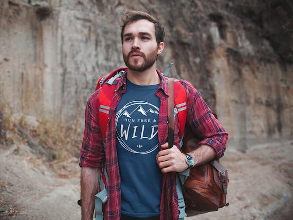 Run Free & Wild Mountains T-shirt | Gift for Runners | Running Shirts | Trail Runner | Running Tshirt