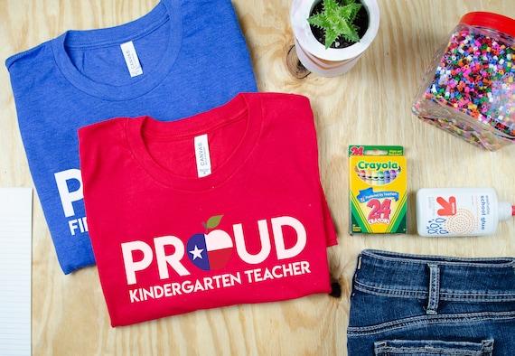 Proud Any State, Any Grade Teacher Tshirt | Kindergarten, First Grade, Second Grade T-shirt | Red for Ed Shirt | Grade Level