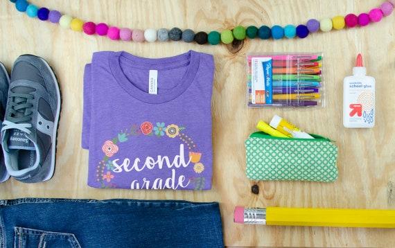 Pastels Floral Wreath Teacher Tribe Grade Level Tshirt | First Grade, Second Grade Teacher shirt | Team Teacher Tee | Grade Level Shirt