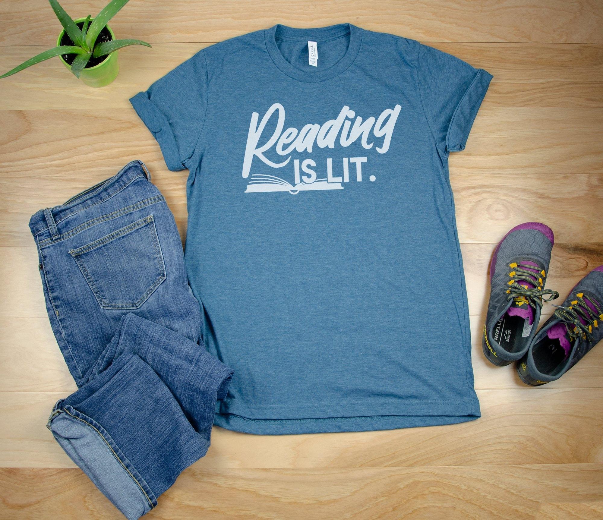 6ead4c6e034 Reading is Lit Librarian Unisex Short Sleeve T-shirt