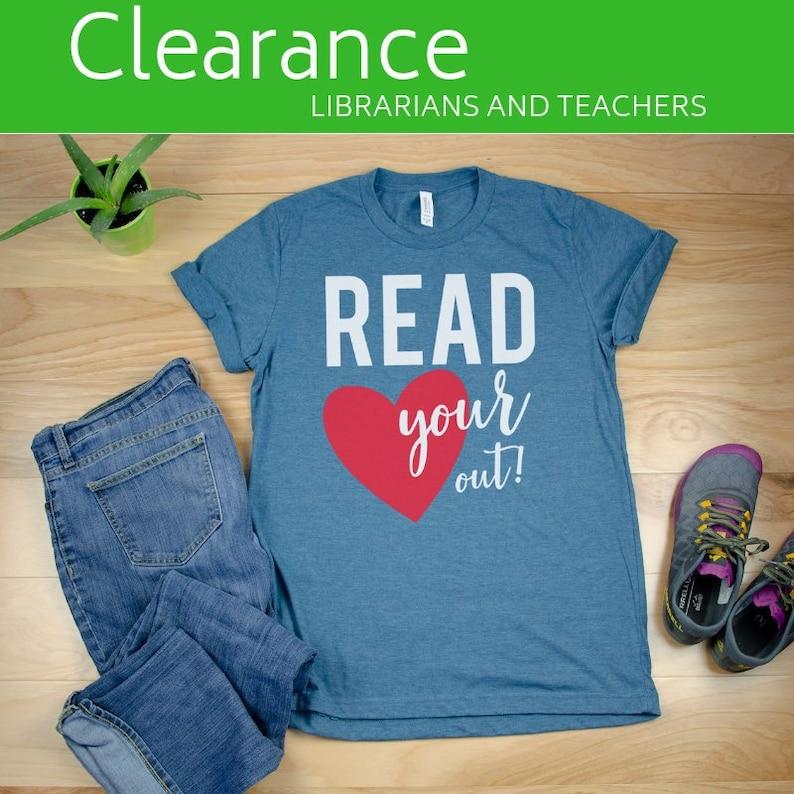 fd0869af45f7 CLEARANCE Teacher tshirts & Librarian tshirts Teacher Sale | Etsy